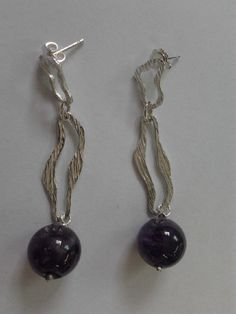 orecchini argento ametista