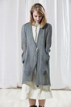 Long Grey Blue knitted sweaterCrochet women oversize by Toosha, $248.00