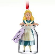 'Drink Me' Alice in Wonderland in bottle sketchbook ornament (2013) from Fantasies Come True