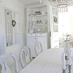 #White #shabby_chic #diningroom