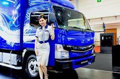 Mitsubishi FUSO eCanter Mejeng Di GIICOMVEC Busses, Diesel, Dan, Trucks, Model, Diesel Fuel, Truck, Scale Model