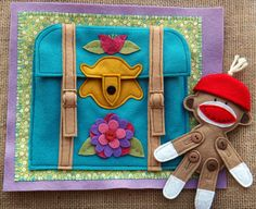 At Granny's FELT Quiet BOOK .PDF Pattern por LindyJDesign en Etsy