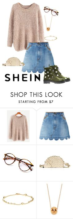 """""""Hedgehog"""" by luvnarnia ❤ liked on Polyvore featuring RED Valentino, Kate Spade, Finn, Boucheron, Anouki, contest, sweaterweather and shein"""