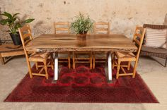 6ft English Walnut Dining Table