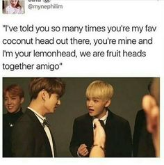 Coconut head and lemon head....amigos forever!!!