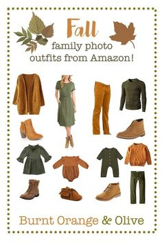 Fall family photo outfits, Fall family picture outfits, what to wear for fall family pictures, best
