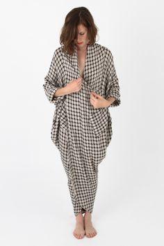 69 Plaid Linen Cocoon Dress  ~  I want this!  I love the shape sooooooo much!  <3 <3 <3 <3