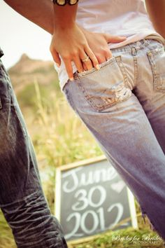 Cute engagement idea. By Brides for Brides Photography www.bridesforbrides.com