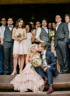 Casamento Real   Vestido de noiva cor-de-rosa