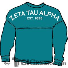 TGI Greek Tshirt - Zeta Tau Alpha - Spirit Jersey Zeta Tau Alpha, Spirit Jersey, Interesting Stuff, Greek, Bow, Sweatshirts, T Shirt, Arch, Supreme T Shirt