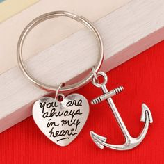 New Friendship Jewelry Forever Best Friend Keychain Girlfriend Brother Couple Keyring Anchor Keychain -- Check out much more testimonials of the product by visiting the link on the picture. (This is an affiliate link). Friendship Jewelry, New Friendship, Best Friend Jewelry, Anchor, Brother, Best Friends, Couple, Personalized Items, Link