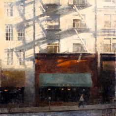 Terry Miura, A Long Afternoon, oil cityscape painting