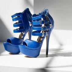 Blue high heel #sandals