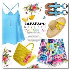 """Summer Brights"" by truthjc ❤ liked on Polyvore featuring Sensi Studio, Oakley, French Connection and summerbrights"