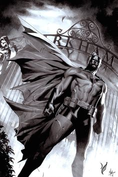 "mainstreamcomics: "" Batman: Arkham Asylum art by Jorge Molina """
