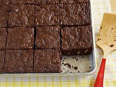 Outrageous Brownies : Ina explains why you need to whack these brownies halfway through baking.