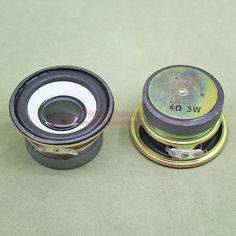 (2 pçs/lote) 4 ohm 3 W 3 Watt 52 MM Rodada Speaker 40 MM Magnético Externo Altura Cap Borda de Espuma Preto Brilhante 30 MM
