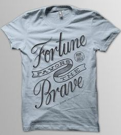 Fortune Favors the Brave T-Shirt - Heather Blue