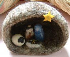 Mini Felt Nativity Scene from Hadeel