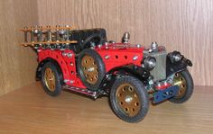 1932 Morris Minor Fire Engine built in Meccano by George Illingworth