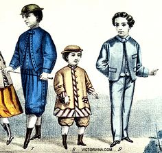 1860s boys summer suit | The 1860s offered a variety of outfits designed for the growing boy ...