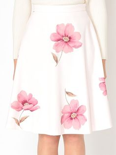 スウェード大花フレアスカート Ailand - アイランド : BE RADIANCE(ビーラディエンス)のスカート