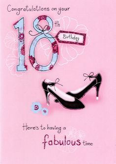 [ Birthday Shoes Stock Cardella ] - Best Free Home Design Idea & Inspiration Happy Birthday 18th, 18th Birthday Cards, Happy Birthday Wishes Cards, Happy Birthday Pictures, Happy Wishes, Birthday Cards For Women, Art Birthday, Happy Birthday Quotes, Funny Birthday Cards