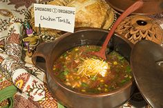 Chicken Tortilla Soup in Lombok Chili Pot