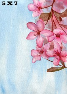 This art print, titled Cherry Blossoms is a beautiful image for your home decor or personal space. It is a digital print version of a fine art piece.  I painted my own photo reference, using watercolor, one of my favorite mediums to use, to create the image, which I then converted to a digital format.  Each image is printed on high quality and archival photo paper.  Paper/Size options to choose from:  5 X 7 inch Premium Matte Paper  8.5 X 11 Premium Matte Paper  8.5 X 11 Satin Glossy Pap...