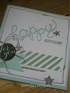Happy birthday kaart.