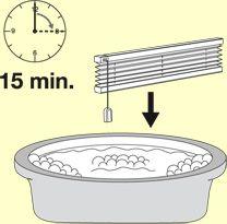 Plissee-Reinigung durchführen (Plissee einweichen)