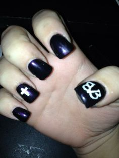 Black Veil Brides nails by Megan-Massacre-NJ.deviantart.com on @deviantART