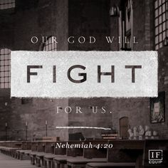 """IF:Equip. Nehemiah 4:10-23. """"How have you seen God fight on your behalf?"""" How has God asked you to stand ready in a """"expect anything"""" moment? What a perfect way to start a Monday - called to fight or build? Be ready for anything knowing God has it covered! 8.24.15"""