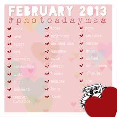 February 2013 photo a day MSA challenge School Photography, Photography Editing, Photography Projects, February Photo Challenge, Picture Ideas, Photo Ideas, Photo Challenges, Instagram Challenge, Photography Challenge
