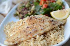 Filete de lenguado Soleé con arroz integral