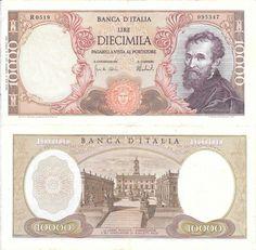 ITALIA - CÉDULA DE 10000 LIRAS ANO 1962 - PEÇA EM ESTADO DE CONSERVAÇÃO SOBERBA !