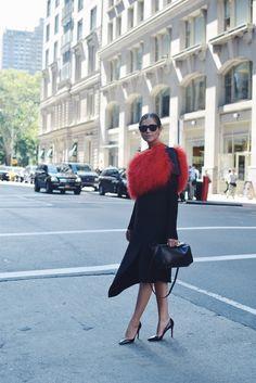 Darja Barannik during New York fashion week