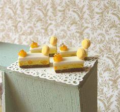 Dollhouse Miniature 1/12 Scale Mango Slice Cakes by Pei Li's Miniatures, via Flickr