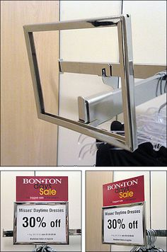 Provided as a Baseline post for comparison, this classic department store saddle-mount sign holder for faceouts is finished in traditional… Print Advertising, Print Ads, Advertising Campaign, Street Marketing, Guerilla Marketing, Exhibition Booth Design, Exhibition Stands, Exhibit Design, Ads Creative
