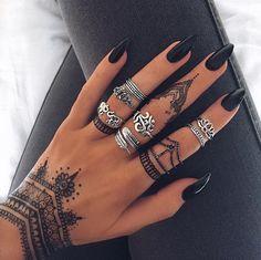 Beautiful nails 2016, Black nails ideas, Easy nail designs, Long nails, Luxury nails, Matte nails, Nails ideas 2016, Plain nails