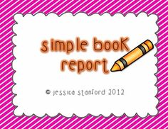 Video Preview of This Product! This simple design book report will be a hit in your classroom. Students will love sharing the books they have read at home in a quick and easy format. Review author, illustrator, illustrations, and simple one sentence reflections on one assessment tool!