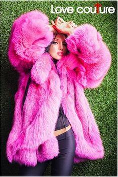 Fox Fur Coat, Fur Coats, Fur Fashion, Fashion Dresses, Womens Fashion, Fox 6, Pink Poodle, Fur Clothing, Fake Fur