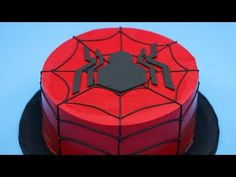 This Spiderman Cake recipe is 4 layers of sweet dough cake stacked with buttercream frosting and cherry pie filling to sweeten your spidey senses! Spiderman Cake Topper, Spiderman Birthday Cake, Spiderman Theme, Black Spiderman, Batman Cakes, Superhero Theme Party, Siper Man, Novelty Birthday Cakes, Cakes For Men