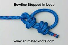 Load-bearing loop in middle of a rope, takes strain in one direction. In fact a strain from the wrong end actually capsizes the knot into one that slides, i., it functions as a noose so that the loop tightens under load. Bowline Knot, Loop Knot, Animated Knots By Grog, Quick Release Knot, Scout Knots, Survival Knots, Survival Tips, Survival Skills, Reef Knot