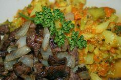 Godt og Sunt: Viltkjøtt og Grønnsaksmos Grains, Rice, Food, Essen, Meals, Seeds, Yemek, Laughter, Jim Rice