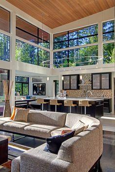High ceiling. http://www.houzz.com/photos/modern/kitchen/p/16
