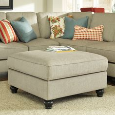 Ashley Furniture Kerridon Ottoman With Storage With the unique flowing design of the set-back arms along with the stylish welted boxed seat and back cushions all surrounded in a comfortable textured… Cheap Patio Furniture, Furniture Sale, Discount Furniture, Furniture Online, Furniture Ideas, Furniture Websites, Furniture Removal, Furniture Inspiration, Furniture Design
