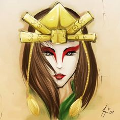 Kyoshi Warrior, how I personally pictured Suki when she was older.l