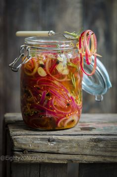 I had never really been a big fan of raw onion, until recently I have since really grown to love them, especially pickled. Eating pickled onions is incredibly good for the gut, because onion is known as a prebiotic. We all know about probiotics which are the good little bacteria that work reall