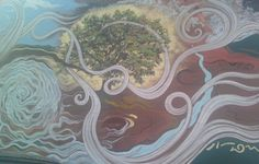 """""""In Good Standing Amidst The Powers That Be.""""      Original Painting By Ardys Ramberg  Mural at Cottin's Hardware, Lawrence, KS."""